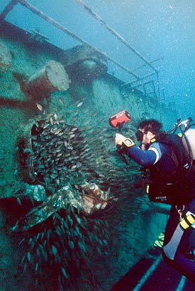 Diving the Spiegel Grove in Florida