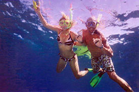 Snorkelling Couple