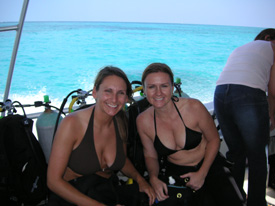 sisters on vaca in Key Largo