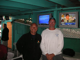 with hard working scuba diver in Key Largo