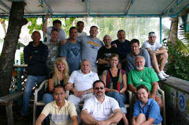 with graduates of my Hyperbarics Medicine course conducted by Dick Rutkowski in Key Largo