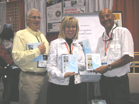 at DEMA with Susan and Jim Joiner of Best Publishing