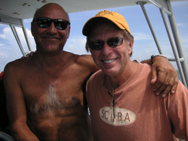 with Stephen Frink in Key Largo