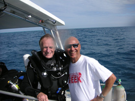 with T Mount after Spiegel Grove dive
