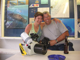 celebrating a successfull underwater photography course in the Florida Keys