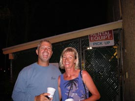 happy hour date after scuba diving in the Florida Keys