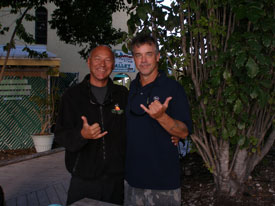 with renowned artist Wyland in Key Largo