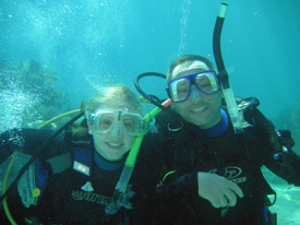 quality time scuba diving with daughter in Key Largo